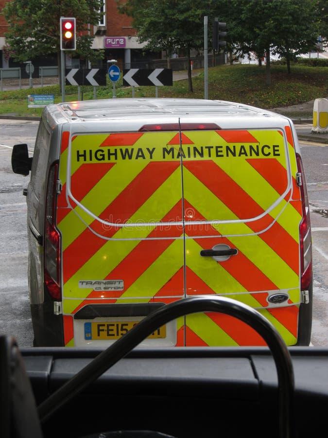 Autostrady utrzymania samochód dostawczy obraz stock