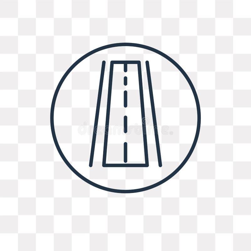 Autostrady wektorowa ikona odizolowywająca na przejrzystym tle, liniowy H royalty ilustracja