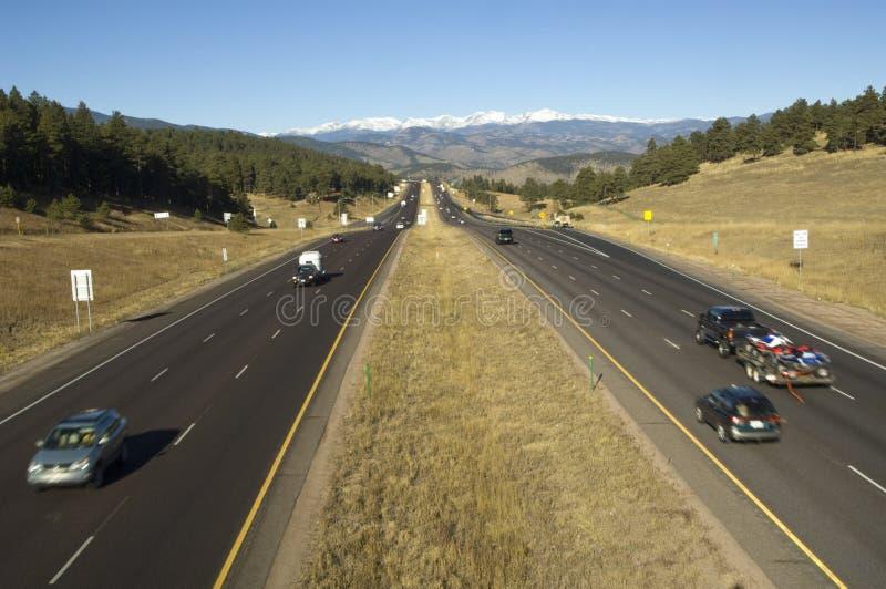 autostrady westward międzystanowy fotografia royalty free