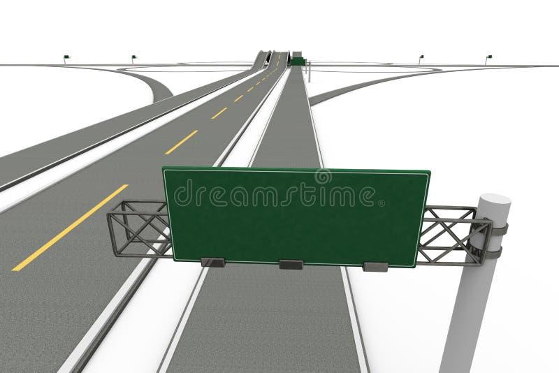 Autostrady wymiana ilustracji