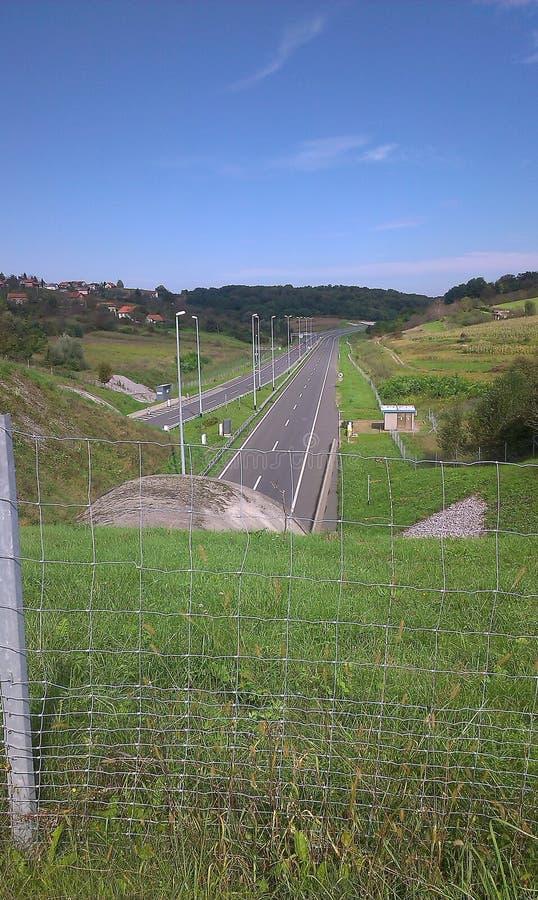 Autostrady Zagreb Varazdin autocesta obraz royalty free