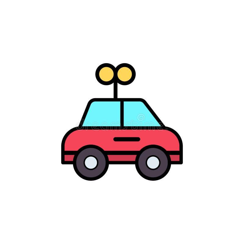Autostuk speelgoed het vlakke vectorsymbool van het pictogramteken stock illustratie