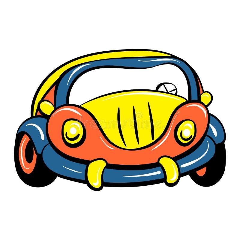 Autostuk speelgoed pictogram, beeldverhaalstijl royalty-vrije illustratie