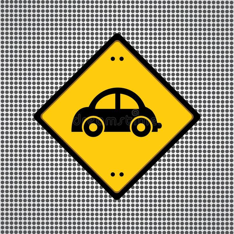 Autosymbool royalty-vrije illustratie