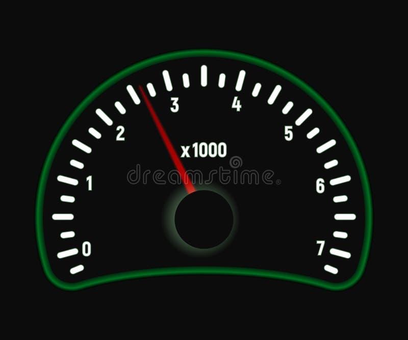Autotachometer royalty-vrije illustratie