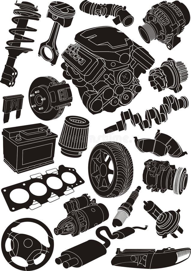 Autoteile vektor abbildung