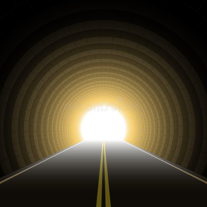 Autotunnel. Vektor. stock abbildung