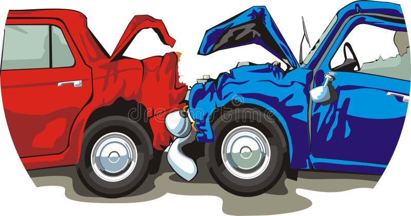 Autounfall vektor abbildung