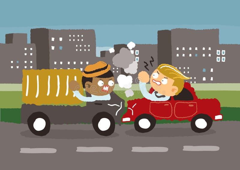 Autounfall in der Stadt vektor abbildung. Illustration von ...
