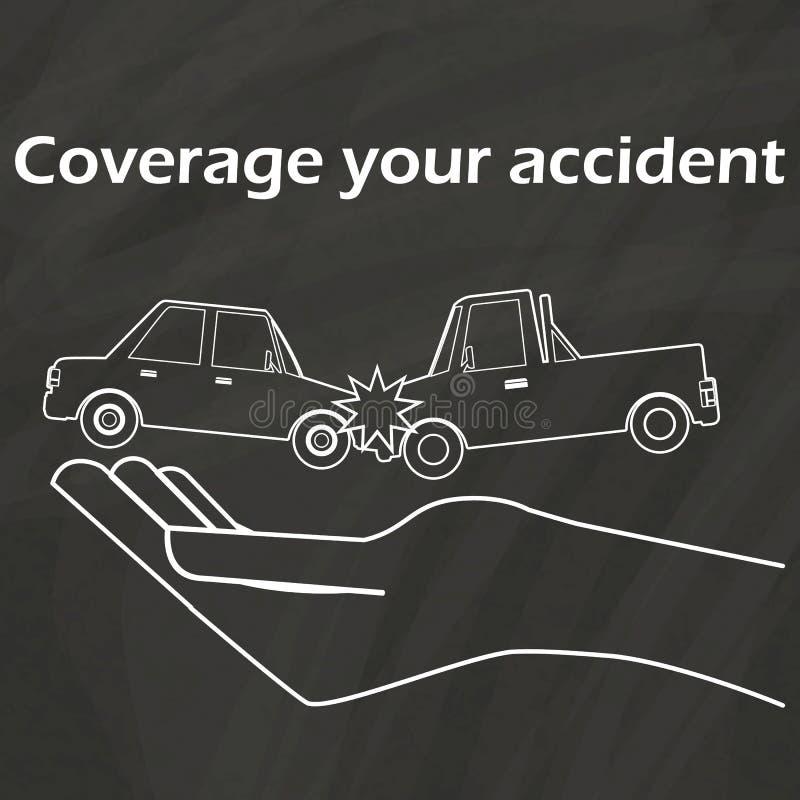 Autounfall An Hand, Zum Mit Kreide Zu Zeichnen Vektor Abbildung ...