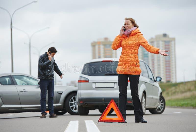 Autounfallzusammenstoß lizenzfreies stockbild