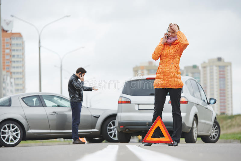 Autounfallzusammenstoß lizenzfreies stockfoto