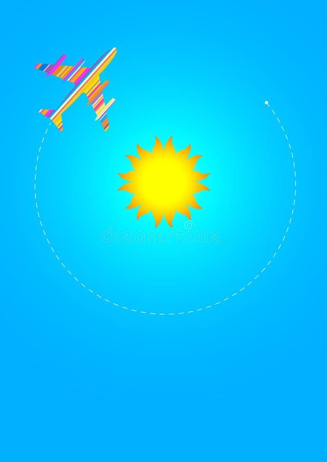 Autour de The Sun illustration libre de droits