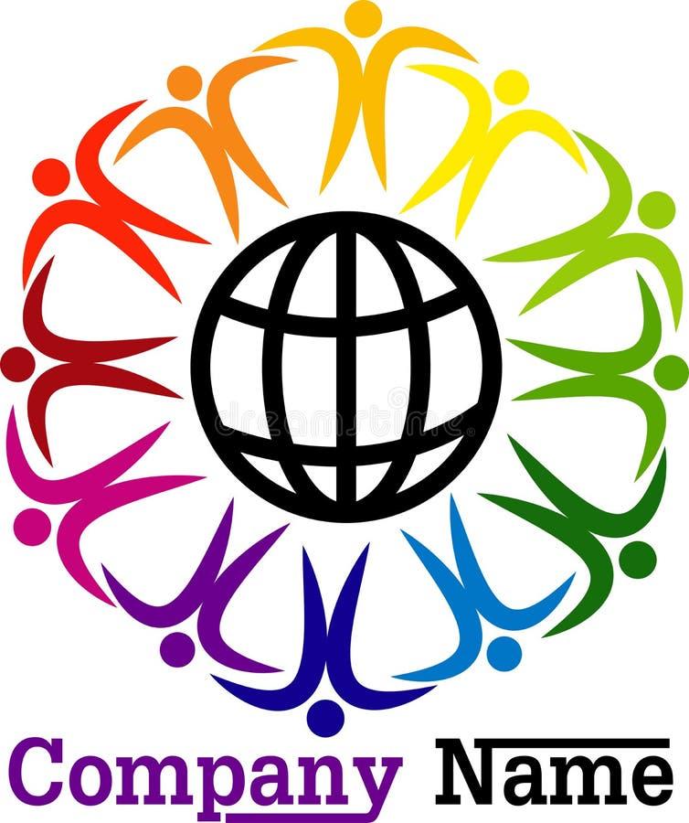 Autour des personnes du monde illustration libre de droits