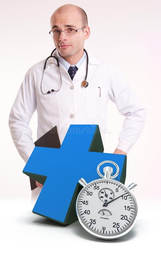 Autour des soins médicaux d'horloge photographie stock libre de droits