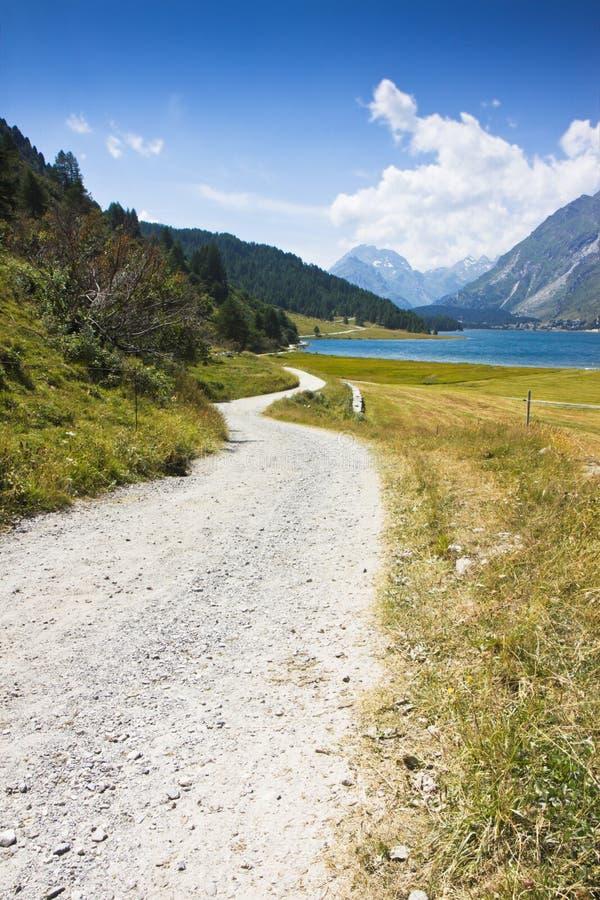 Autour du lac sils - Suisse (l'Europe) photo libre de droits