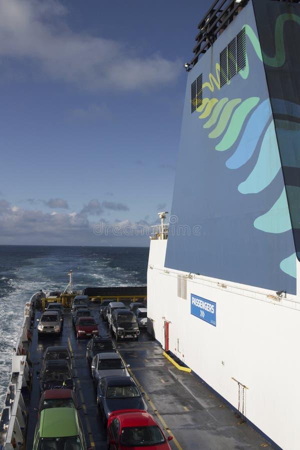 Autoveerboot royalty-vrije stock afbeeldingen