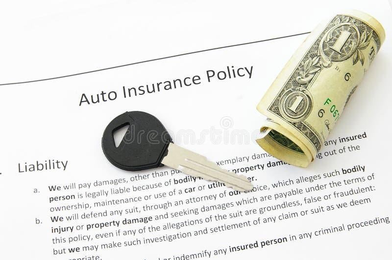Autoversicherung lizenzfreies stockbild