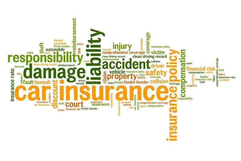 AutoVersicherungspolice stock abbildung