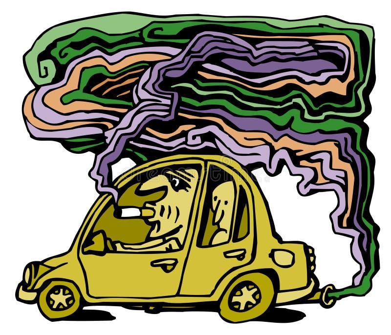 Autoverunreinigung stock abbildung