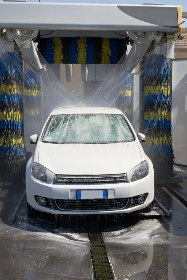 Autowasserette stock foto's