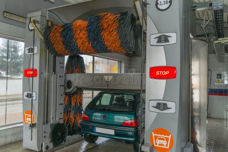 Autowasserette stock afbeeldingen