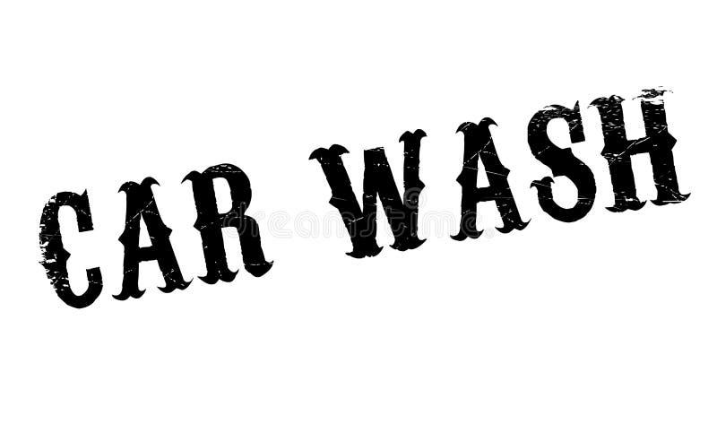 Autowasserette rubberzegel stock illustratie