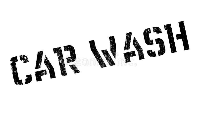 Autowasserette rubberzegel vector illustratie