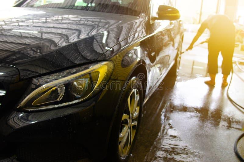 autowasserettebellen royalty-vrije stock foto's