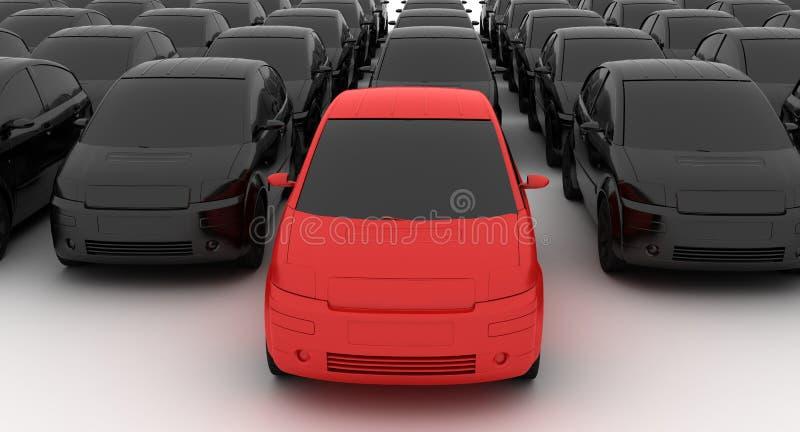 Autowiederverkäufer lizenzfreie abbildung