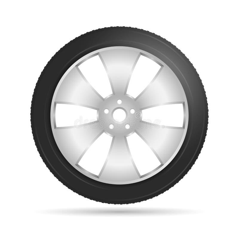 Autowiel vector illustratie