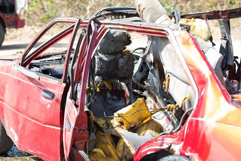 Autowrack von der Explosion lizenzfreie stockfotografie