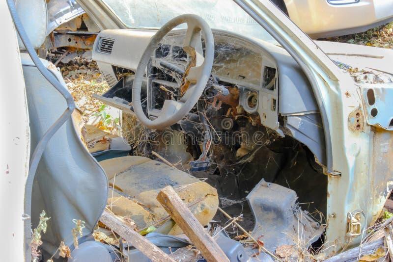 Autowrak bij een autokerkhof royalty-vrije stock foto
