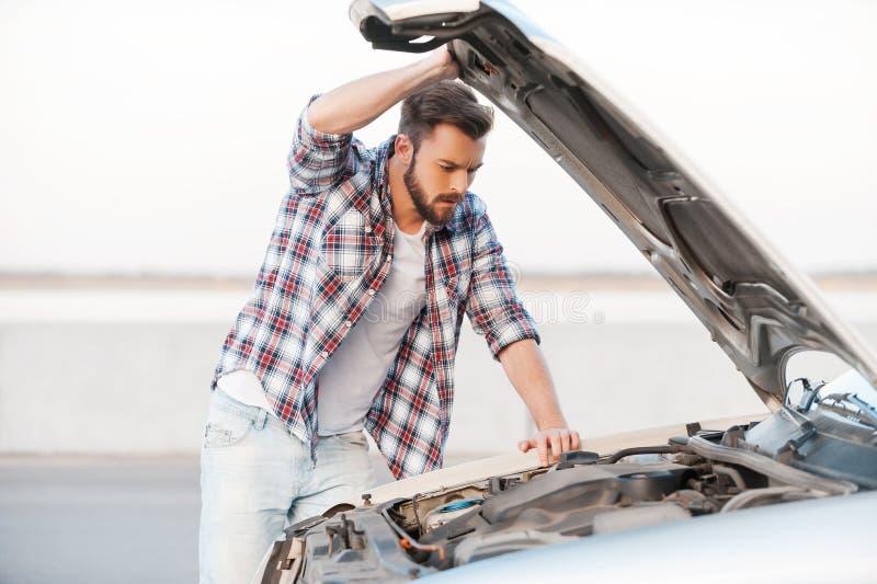Autozusammenbruch lizenzfreies stockfoto
