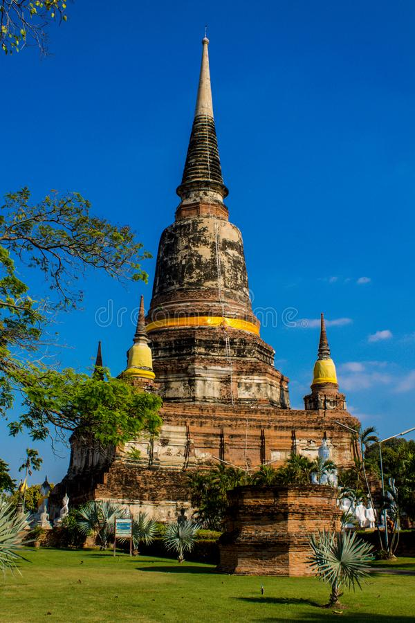 Autthaya Historical Park ancient temple wat in Thailand stock photo