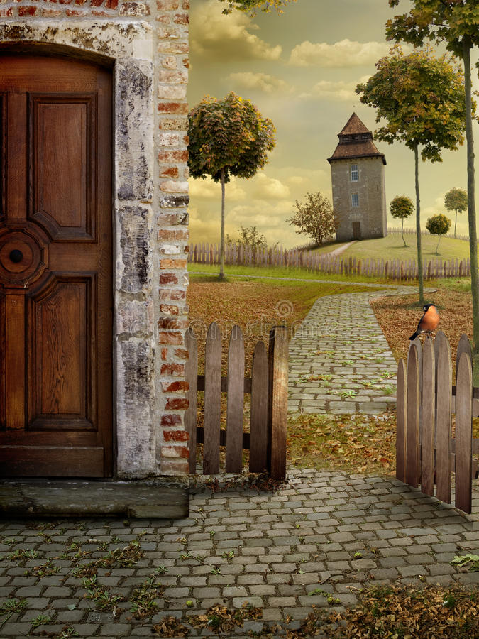 Download Autum country stock illustration. Image of nobody, outdoors - 16555088
