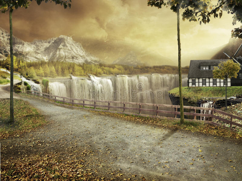 Download Autum Landscape stock illustration. Image of country - 14826242