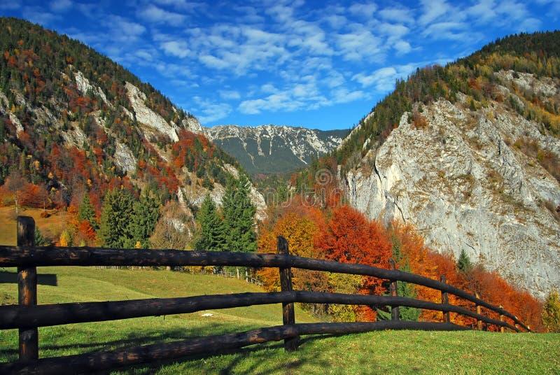 Autum Landschaft, Rumänien stockfotos