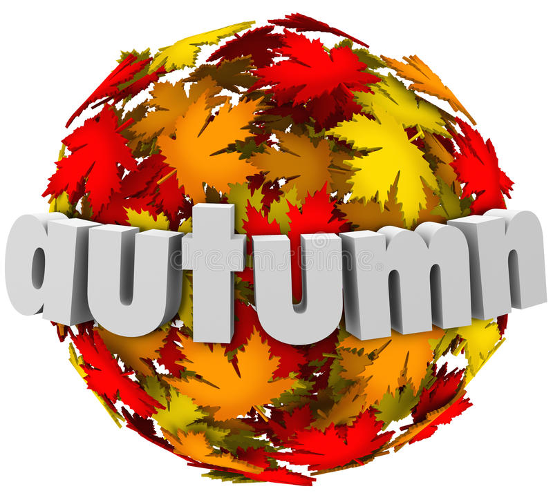 Autum Leaves Changing Colors Sphere Season Change Stock ...