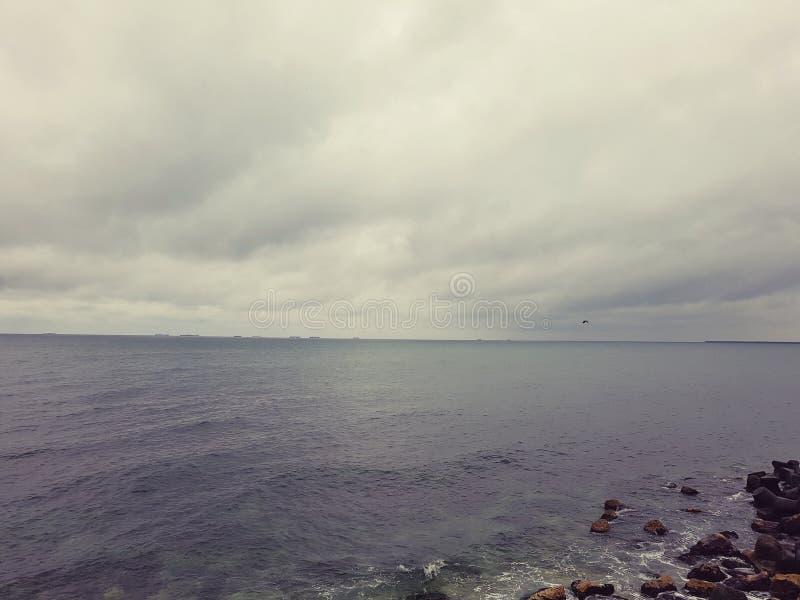 Autum sea. Autum black sea photo stock photo