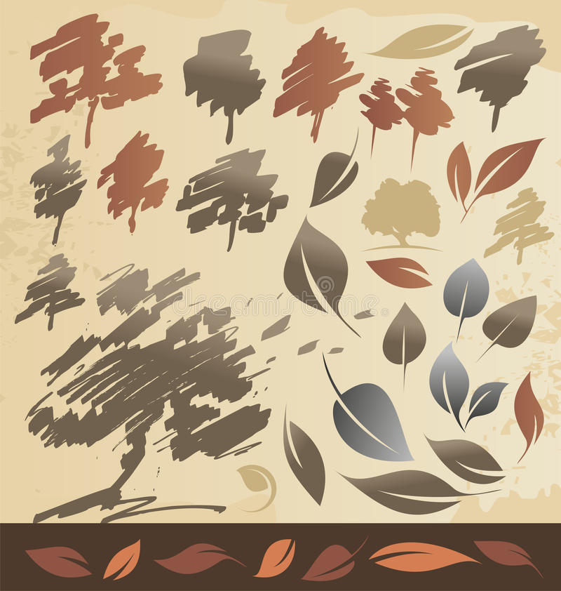 Download Autum trees and leaves stock vector. Image of keywords - 26809992