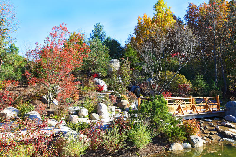 Autumal Japanese Garden stock images