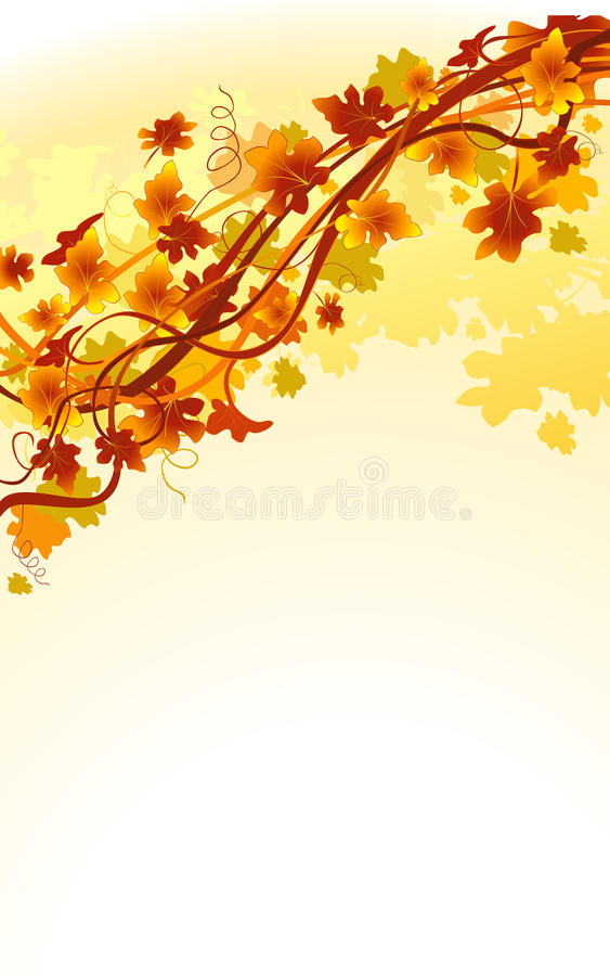 Download Autumn stock vector. Illustration of foliage, brown, grunge - 10971526