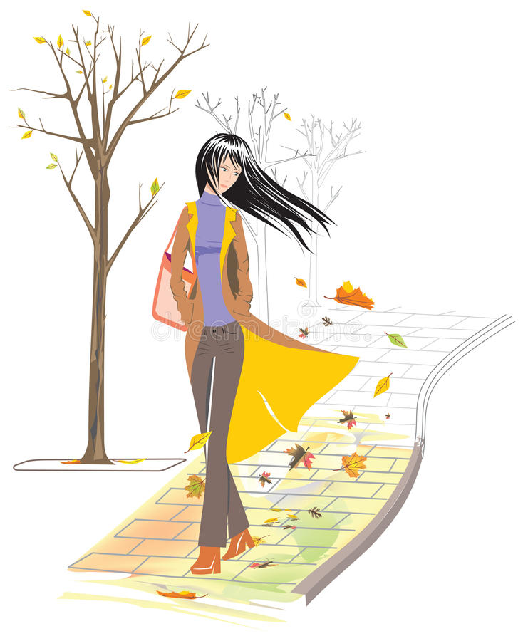 Download Autumn stock vector. Image of female, autumn, color, beauty - 11211121
