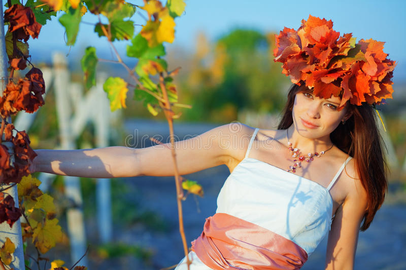 Download Autumn stock image. Image of cute, gown, person, natural - 11371217
