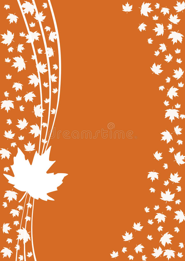 Autumn. Abstract background with autumn maple leaves. Illustration royalty free illustration