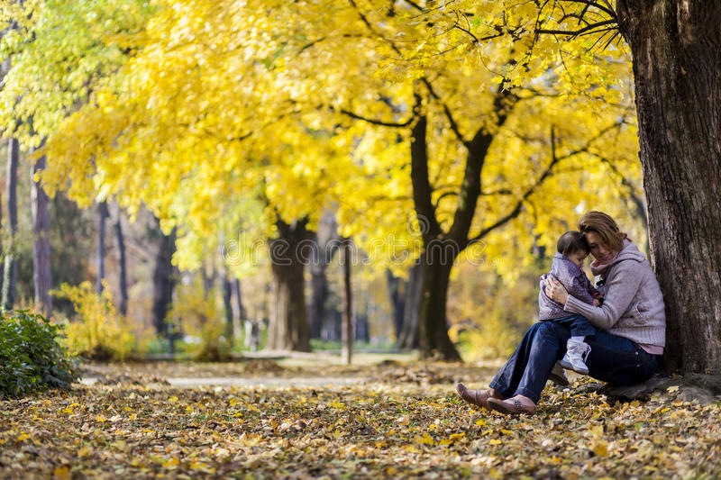 Download Autumn stock image. Image of small, mother, game, park - 26594829