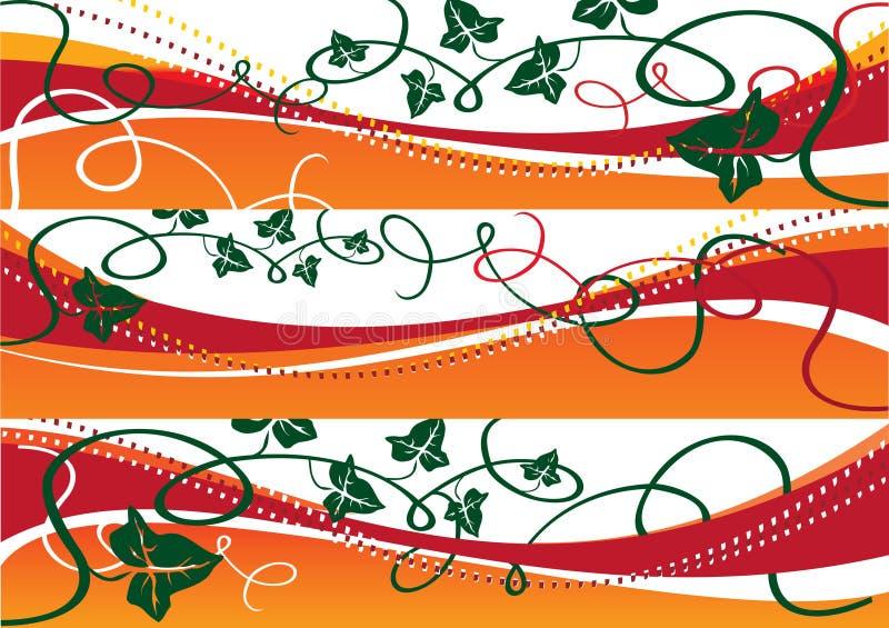 autumn 3 banner ilustracja wektor