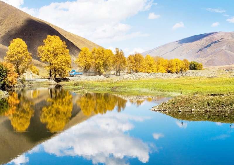 Autumn. It is chanxi at the autumn royalty free stock photography