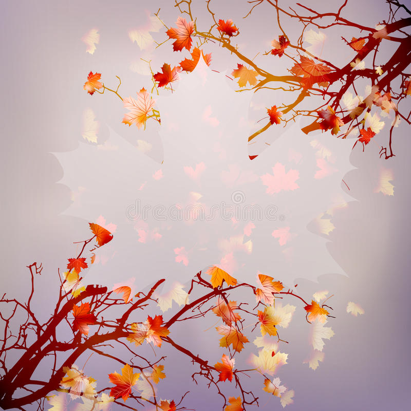 Autumn abstract floral background. EPS 10 royalty free illustration